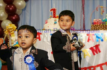 Suresh's son's birthday photo