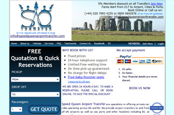 Speed Queen Airport Transfer New Design image.