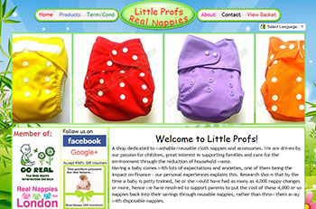 LITTLE PROFS REAL NAPPIES e-commerce image.